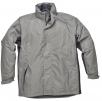 Bunda UMEA pongee polyester potažený PVC zateplená šedá/černá velikost XXL