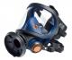 Celoobličejová maska Sundström SR 200 PC silikonová lícnice tmavě modrá