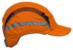 Čepice se skořepinou PROTECTOR FB3 HV zkrácený štítek výstražně oranžová