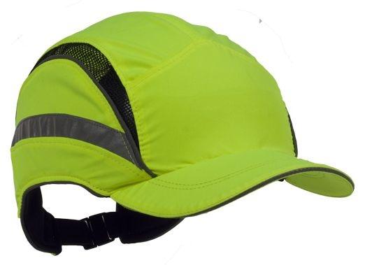 Čepice se skořepinou PROTECTOR FB3 HV zkrácený štítek výstražně žlutá