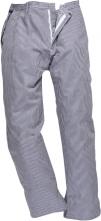 Kalhoty Barnet Chefs elastický pas modro/bílé pepito velikost L