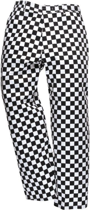 Kalhoty Harrow Chefs kostka černo/bílá velikost XL