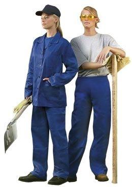 Dámské montérkové kalhoty HELA do pasu středně modré velikost 48