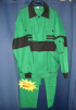 Montérkový oděv MAXIM kalhoty s laclem blůza s náplety středně zeleno/černý