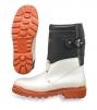 Vysoká slévačská obuv TEMPEX pokovená tepluoodolná podrážka černo/stříbrná