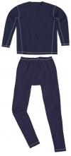 Prádlo zateplené MALMOE kalhoty pas a blůza tmavě modré velikost XXL