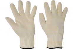 Rukavice CERVA DUNLIN protiřezné uzlíková bavlna
