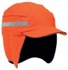 Čepice se skořepinou PROTECTOR FB3 WINTER krátký kšilt výstražná oranžová