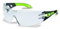 Brýle UVEX PHEOS černo/zelené straničky nemživý nepoškrábatelný čirý zorník