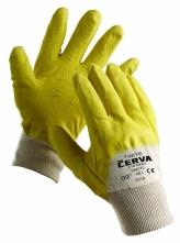 Rukavice CERVA TWITE protiřezné latex máčené zdrsněné žluté