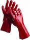 Rukavice CERVA REDSTART PVC máčené délka 35 cm červené