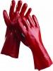 Rukavice REDSTART PVC máčené délka 35 cm červené velikost 10