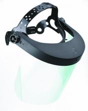 Štít VISION polykarbonátový včetně hlavového držáku čirý