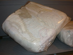 Čistící hadry BA bílá páraná balení 10 kg