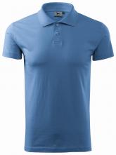 Polokošile Single Jersey krátký rukáv nebesky modré