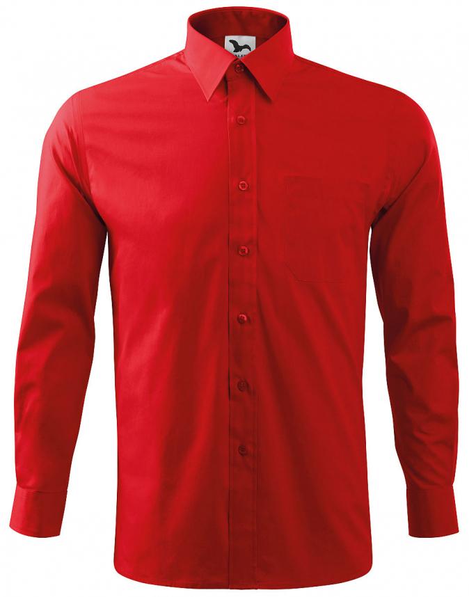 Košile Shirt long sleeve panská dlouhý rukáv červená