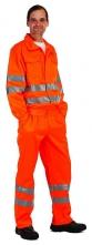 Kalhoty KOROS do pasu výstražné pruhy oranžové velikost 54