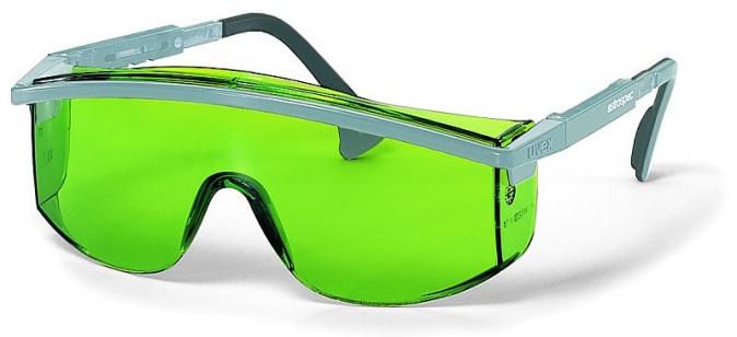 Brýle UVEX ASTROSPEC stříbrný rámeček zorník odolný proti poškrábání zelené