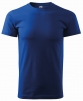 Triko Basic 160 bavlněné kulatý výstřih středně modré