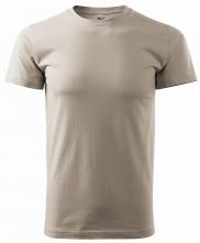 Triko Basic kulatý výstřih bavlna 160g ledově šedé