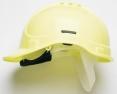 Přilba PROTECTOR STYLE 300 plastový hlavový kříž ventilovaná HVžlutá