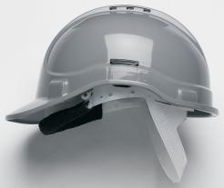 Ochranná průmyslová přilba PROTECTOR STYLE 300 plastový hlavový kříž ventilovaná šedá