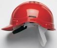 Ochranná přilba PROTECTOR STYLE 300 plastový hlavový kříž ventilovaná červená