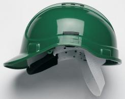 Ochranná průmyslová přilba PROTECTOR STYLE 300 plastový hlavový kříž ventilovaná zelená