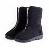 Dámská obuv DŮCHODKA vyšší nad kotník filcový svršek zip na nártu černá