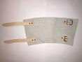 Chránič zápěstí kožený 2 pásky spony 15 cm
