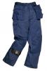 Montérkové kalhoty PORTLAND do pasu odolný materiál tmavě modré velikost L