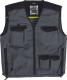Pracovní vesta MACH 5 SPIRIT nové provedení s kapsami šedá/černá velikost XL