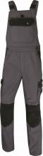 Montérkové kalhoty MACH SPIRIT s náprsenkou šedo/černé velikost XL