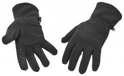 Rukavice FLEECE zateplené zesílené polyesterem v dlani černé