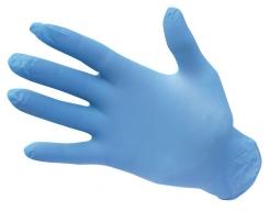 Rukavice A925 jednorázové 100 ks nitrilové modré velikost L