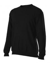 Mikina Toledo kulatý průkrčník hladký směsový úplet černá velikost XL