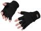 Rukavice KnitGlove pletené z akrylu Insulatex volné konečky prstů černé