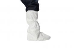 Návlek na obuv TYVEK POBO jednorázový holeňový tkanice bílý