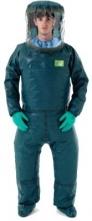Kombinéza MICROCHEM 4000 PAPR ochranné protichemická přetlaková k SR 500 zelená velikost XL