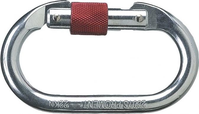 Karabina ELARA01 ocelová pojistný uzávěr šroubovací otvor 17 mm