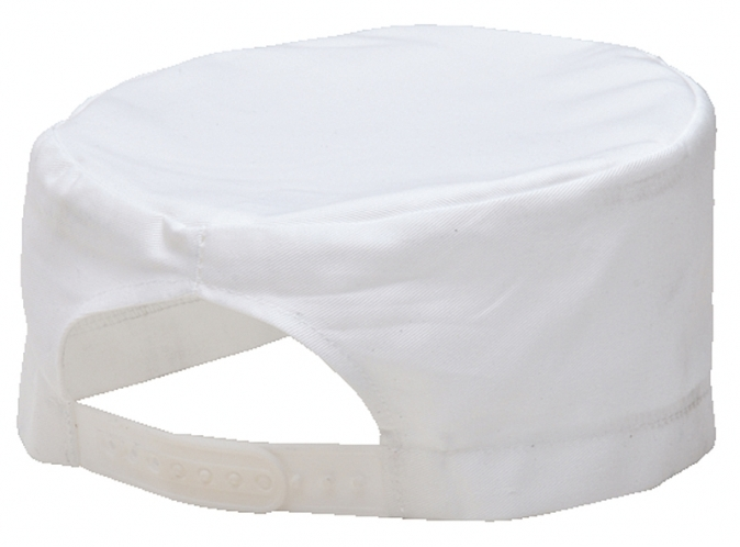 Čepice CHEFS Skull kuchařská PES/BA stahování bílá