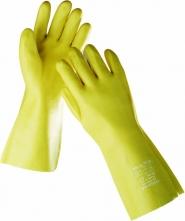 Rukavice DG STANDARD máčené v PVC 35 cm žluté