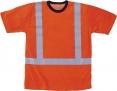 Triko WALKER krátký rukáv funkční úplet reflexní pruhy vysoceviditelné oranžové velikost XL