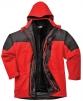 Bunda AVIEMORE 3v1 voděodolná s odepínací vložkou červeno/černá velikost L
