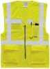 Výstražná vesta EXECUTIVE na zip s kapsami žlutá velikost XL