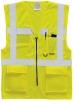 Výstražná vesta EXECUTIVE na zip s kapsami žlutá velikost XXXL