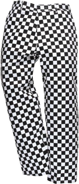 Kalhoty Harrow Chefs kostka černo/bílá velikost M