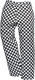 Kalhoty Harrow Chefs kostka černo/bílá velikost XS