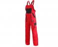 Montérkové kalhoty KOLÍN laclové červeno/černé velikost 54