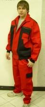 Montérkový komplet KOLÍN lacl červeno/černý velikost 54